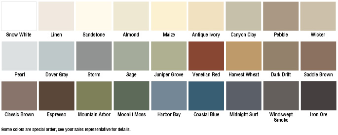 Vinyl siding colors lowes vinyl siding colors color chart house.